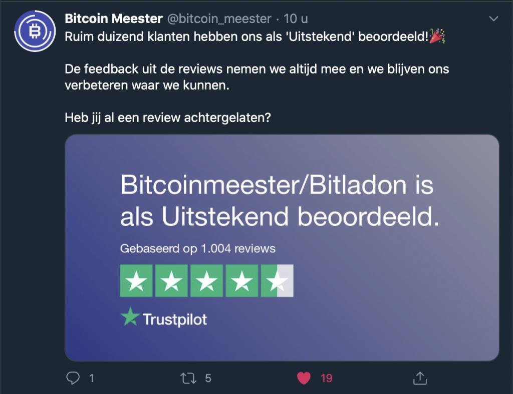 Bitcoinmeester beoordeling