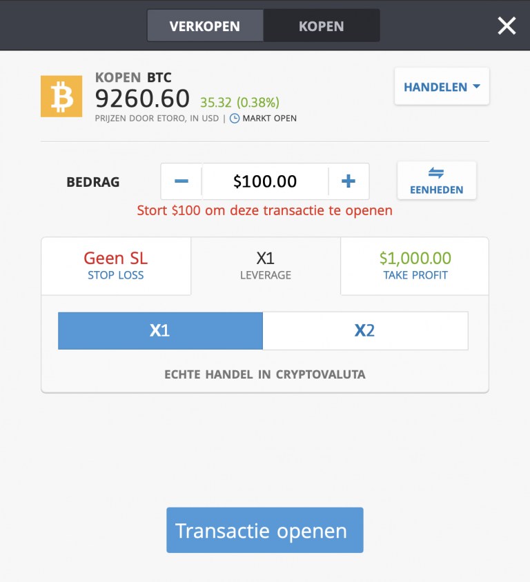 Bitcoin kopen Etoro